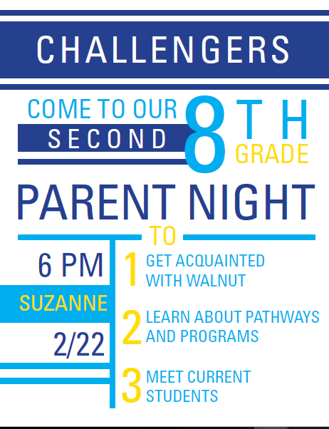 Suzanne 8th Grade: Parent Night is Tonight @ Suzanne! Thumbnail Image