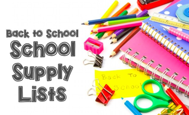 School Supply List - SY 2017-2018 Thumbnail Image