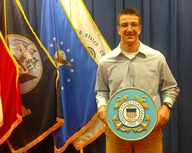 Senior Ben Evans joins United States Coast Guard Thumbnail Image