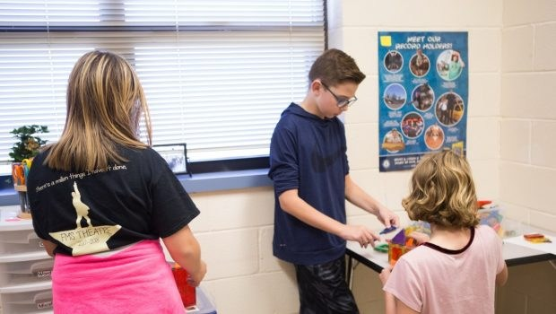 Students in Curiosity Room