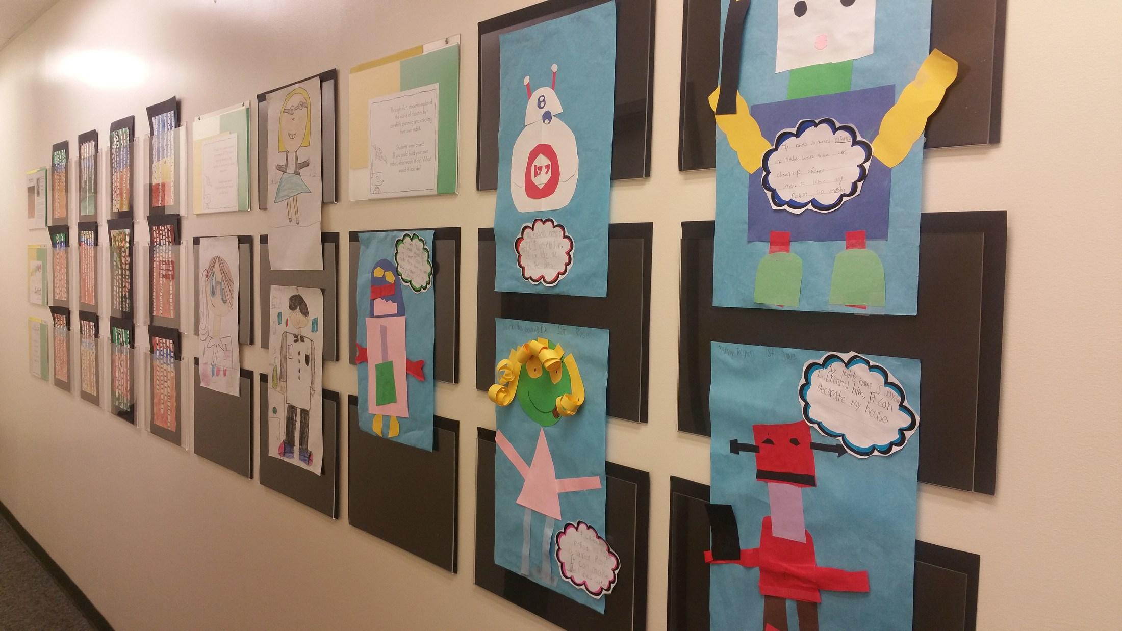 An artwork of robots