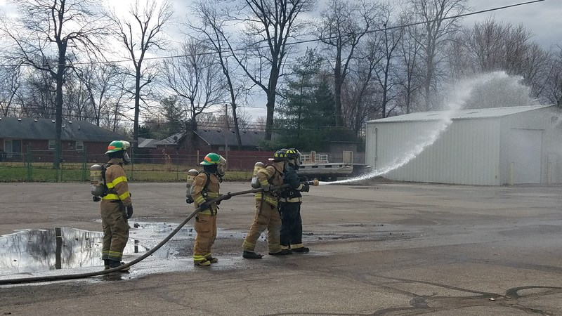 Fire/Rescue Students Learning About Fire Hoses! Thumbnail Image