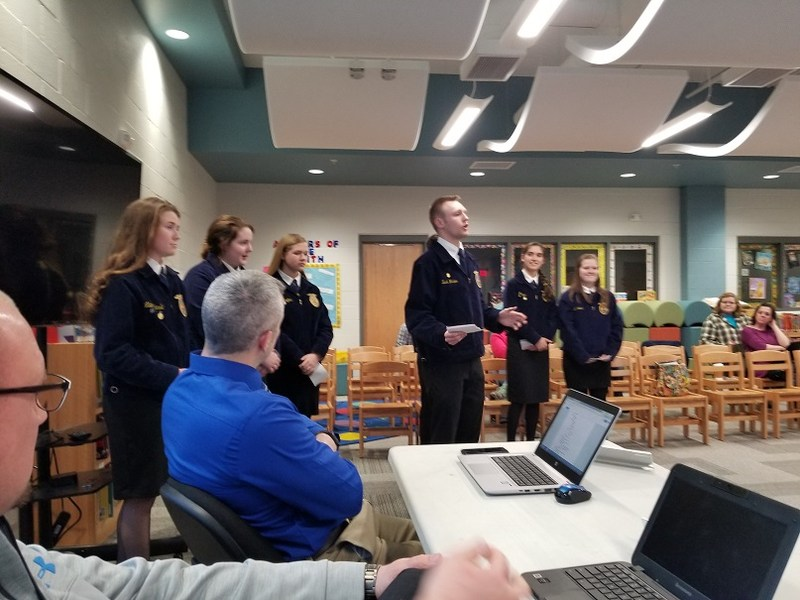 Midland FFA Students Impress at School Board Meeting Featured Photo