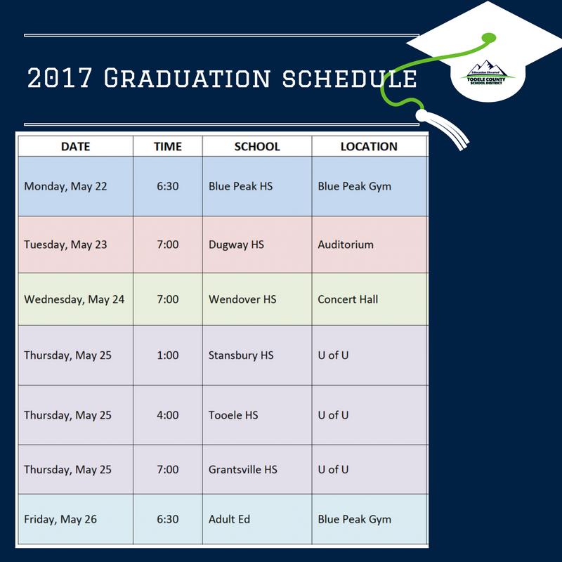 2017 Graduation Schedule Thumbnail Image