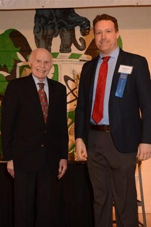Herb Kohl and Joe accepting the award