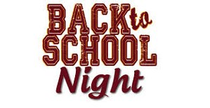 Image of words: Back to school night