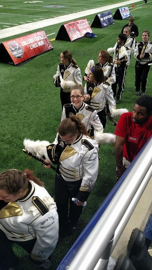 Heather Price, a 2016 TKHS graduate, will march with the WMU marching band at the Cotton Bowl along with TKHS classmate Noah Miller.
