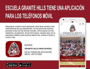 Granite Hills Flyer App-in Spanish