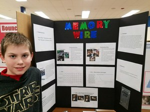 Student award winner and science fair project