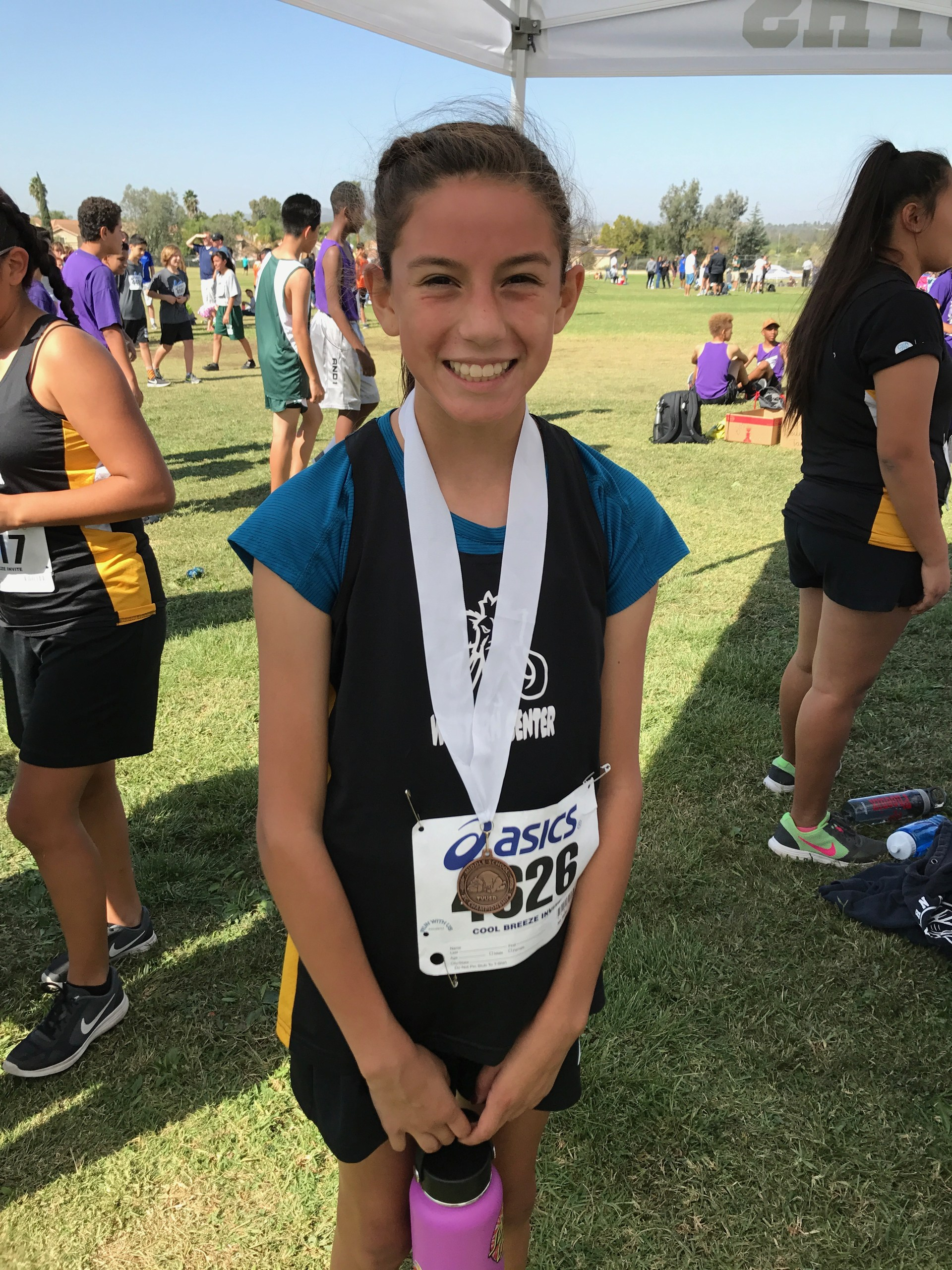Olivia U. with her 3rd Place Medal at Vail Ranch