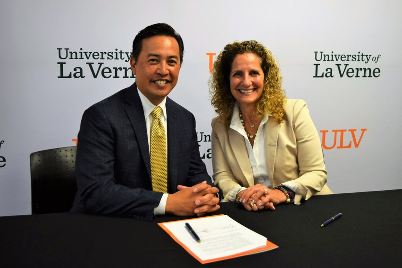 Baldwin Park Unified Superintendent Froilan N. Mendoza and University of La Verne President Devorah A. Lieberman formally pledged a partnership on July 20 that gives qualified graduates from the District access to a top-quality, private university education. Founded by the University of La Verne in January, the Partnership for Access to College Education offers application fee waivers, guaranteed admission, financial aid and workshops to promote college readiness.