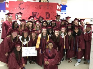 Brookland-Cayce High seniors visit Pineview Elementary