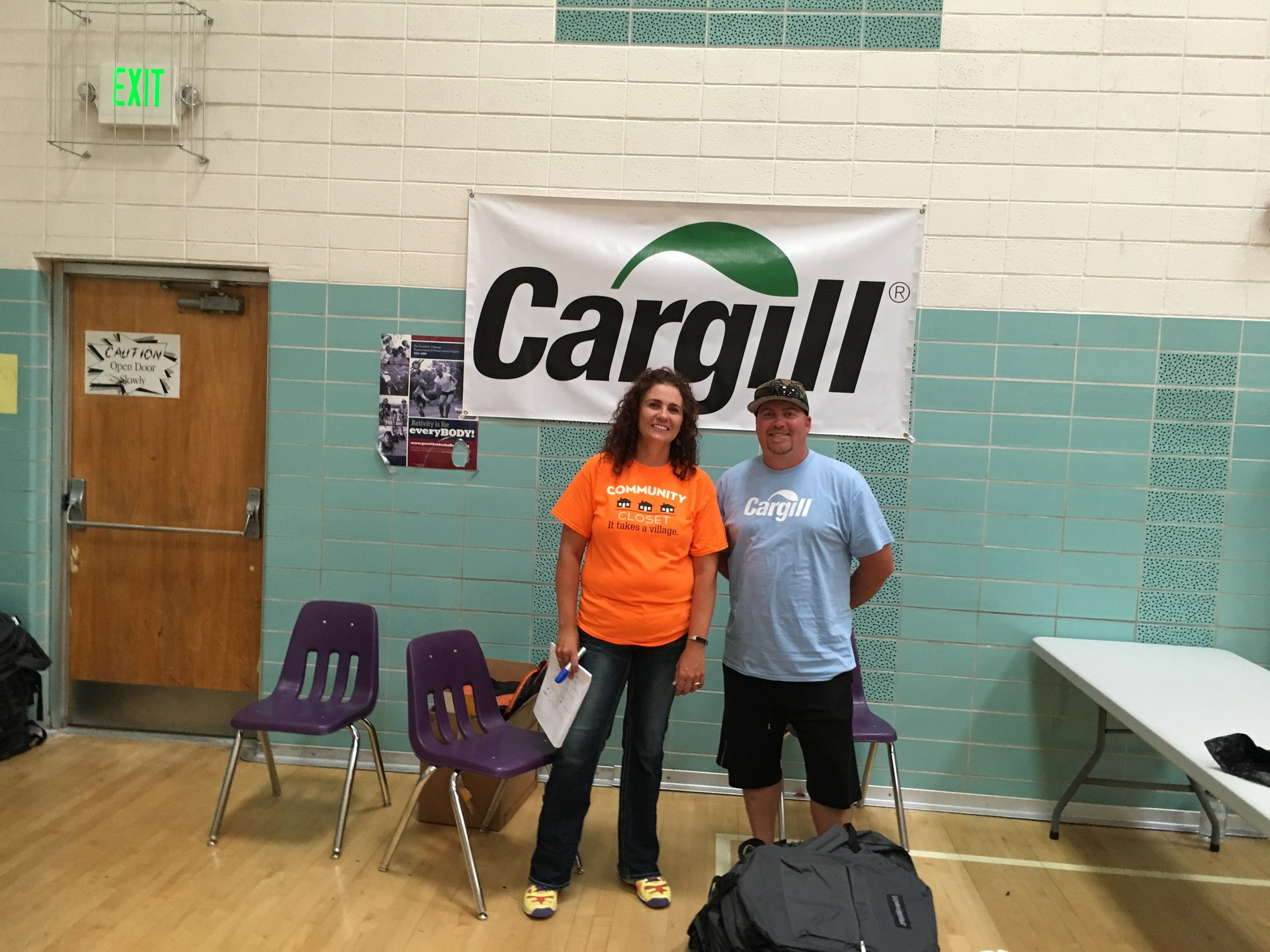 Christy Johnson and Collin Smith with Cargill, August 2016
