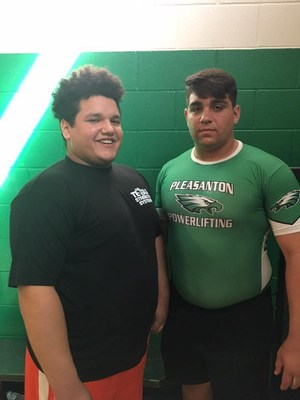 2 boys from the powerlifting team