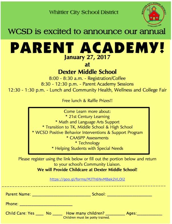 wcsd parent academy