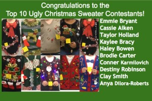 Top 10 Ugly Christmas Sweater Contestants!