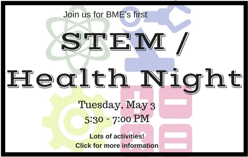 STEM / Health Night on May 3 5:30-7PM Thumbnail Image