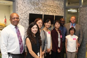 Delegates from Japan tour Manor New Tech High =