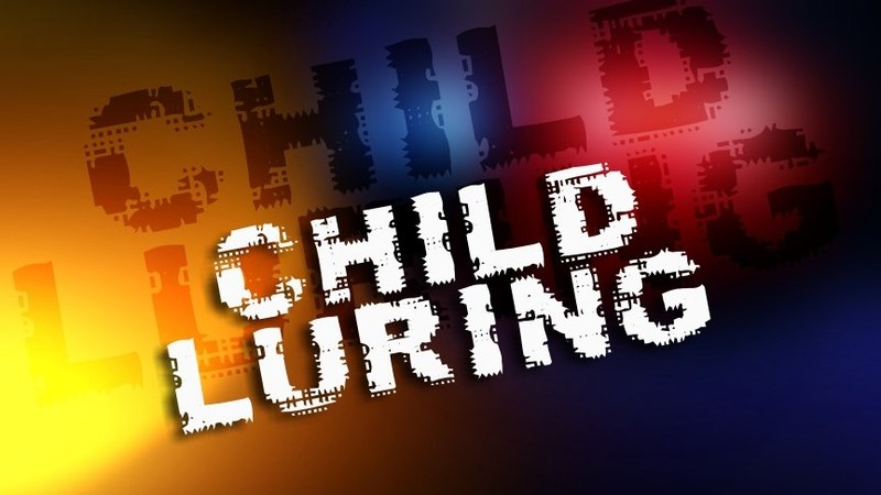 graphic that says child luring