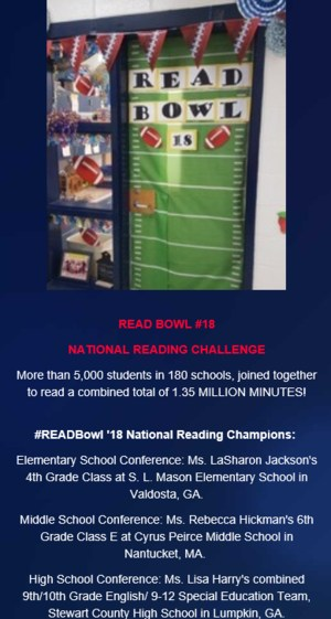 Read Bowl #18 Challenge Winners Flyer