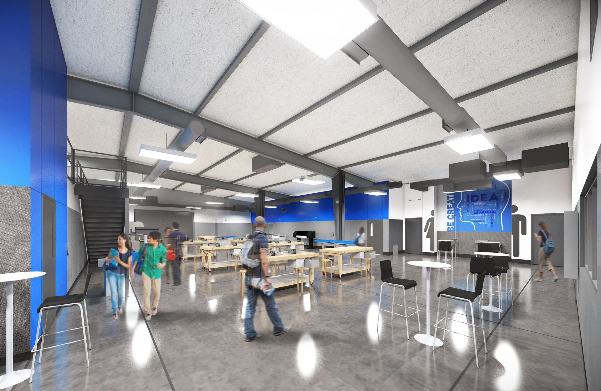 Rendering of FAB Lab at renovated MNTHS.