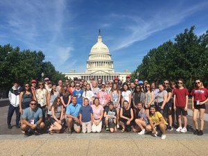 PCS and another school group at Washington DC, Summer 2017