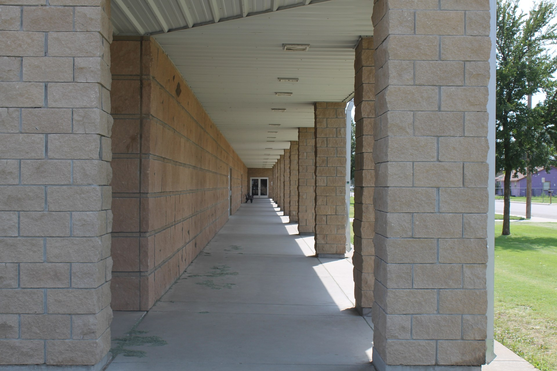 Walkway by triple gym