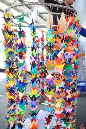 Cassi's origami cranes