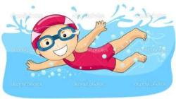 Cartoon swimmer