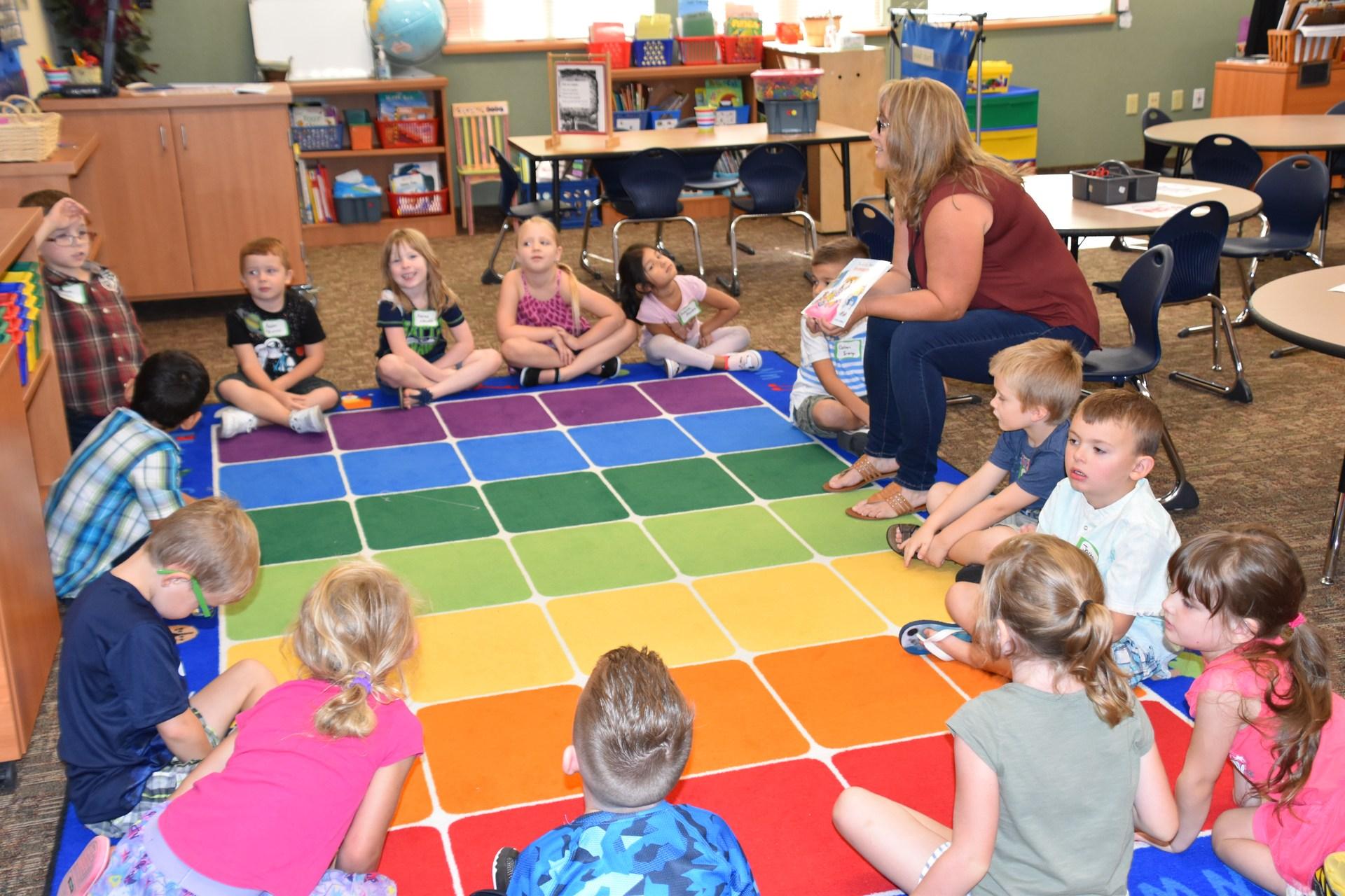 Carpet time at Kindergarten orientation
