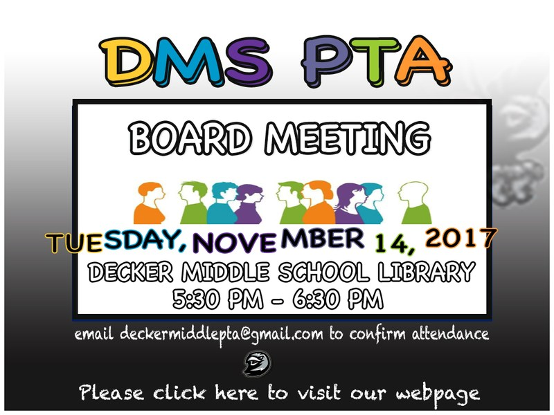 DMS PTA Board Meeting Thumbnail Image