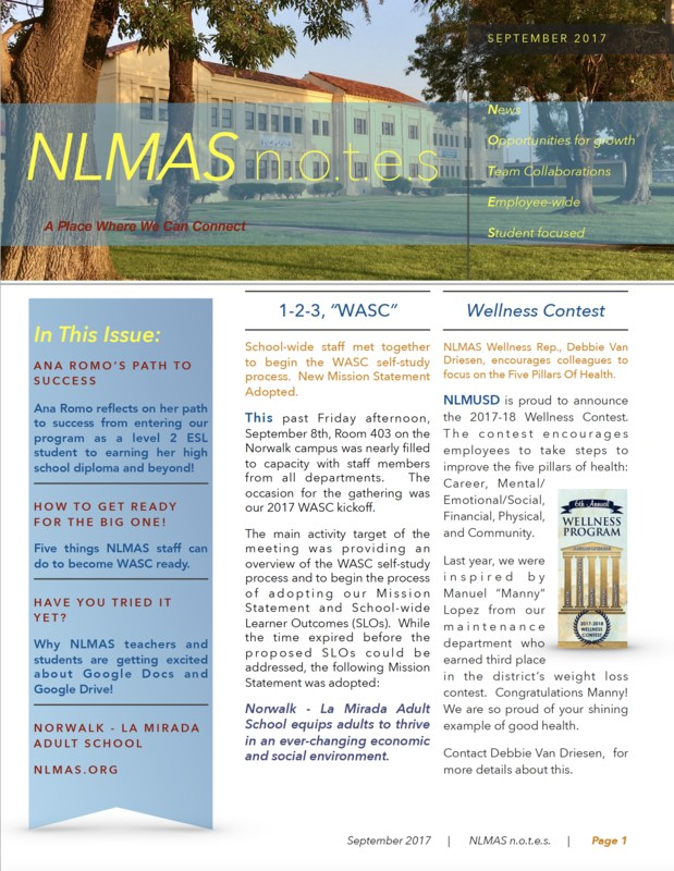NLMAS n.o.t.e.s for September 2017! Featured Photo