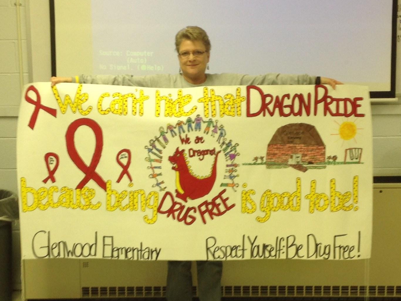 Glenwood Elementary Red Ribbon Week Poster