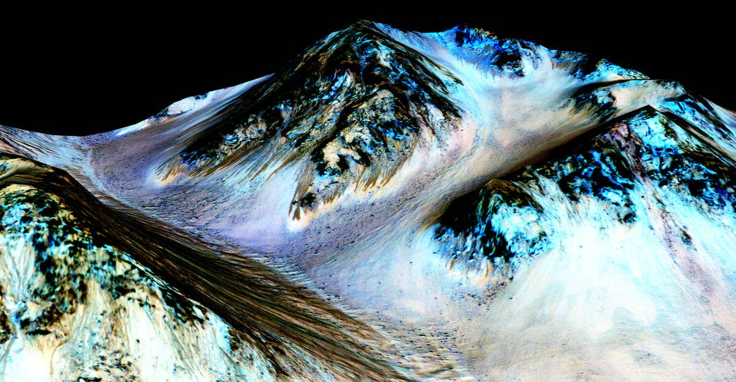 Evidence of water flows on Mars