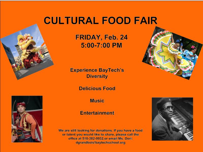Cultural Food Fair - Feb 15! Thumbnail Image