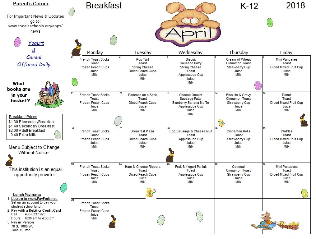 April Breakfast K-12