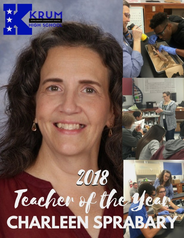 Congratulations to Mrs. Sprabary, 2018 KHS Teacher of the Year Thumbnail Image
