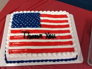 The cake was a USA flag.