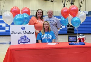 Terrane Shepherd signed to play volleyball at Cisco College.