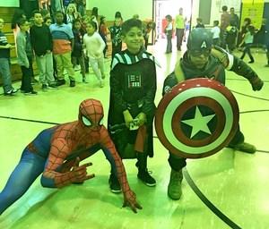 Spiderman, Darth Vader, and Captain America