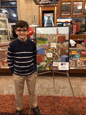 A picture of 1st place winner Nicholas Wright