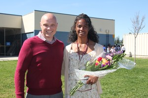 Schella Radford with Teacher President