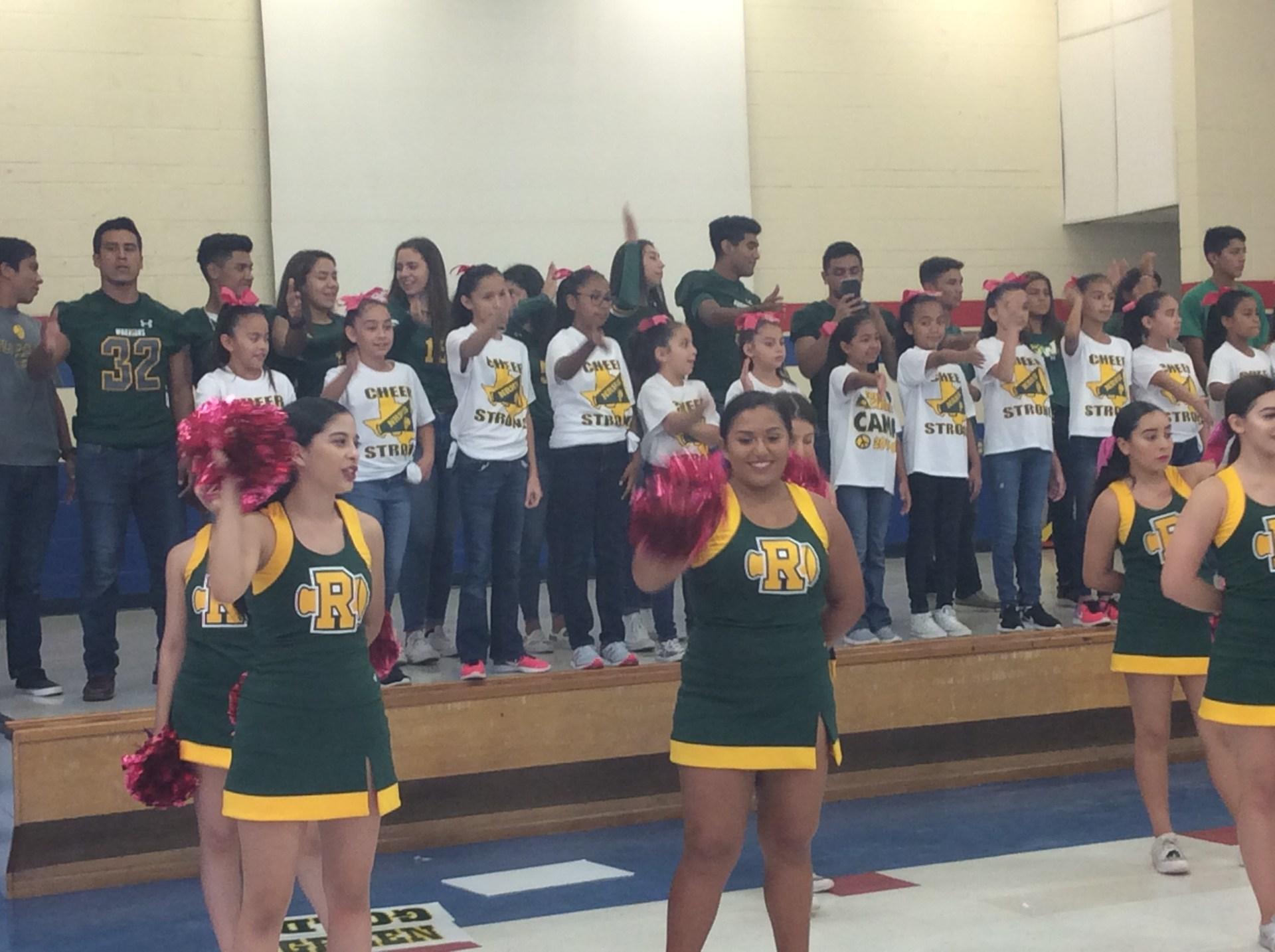 with Nikki Rowe cheerleaders