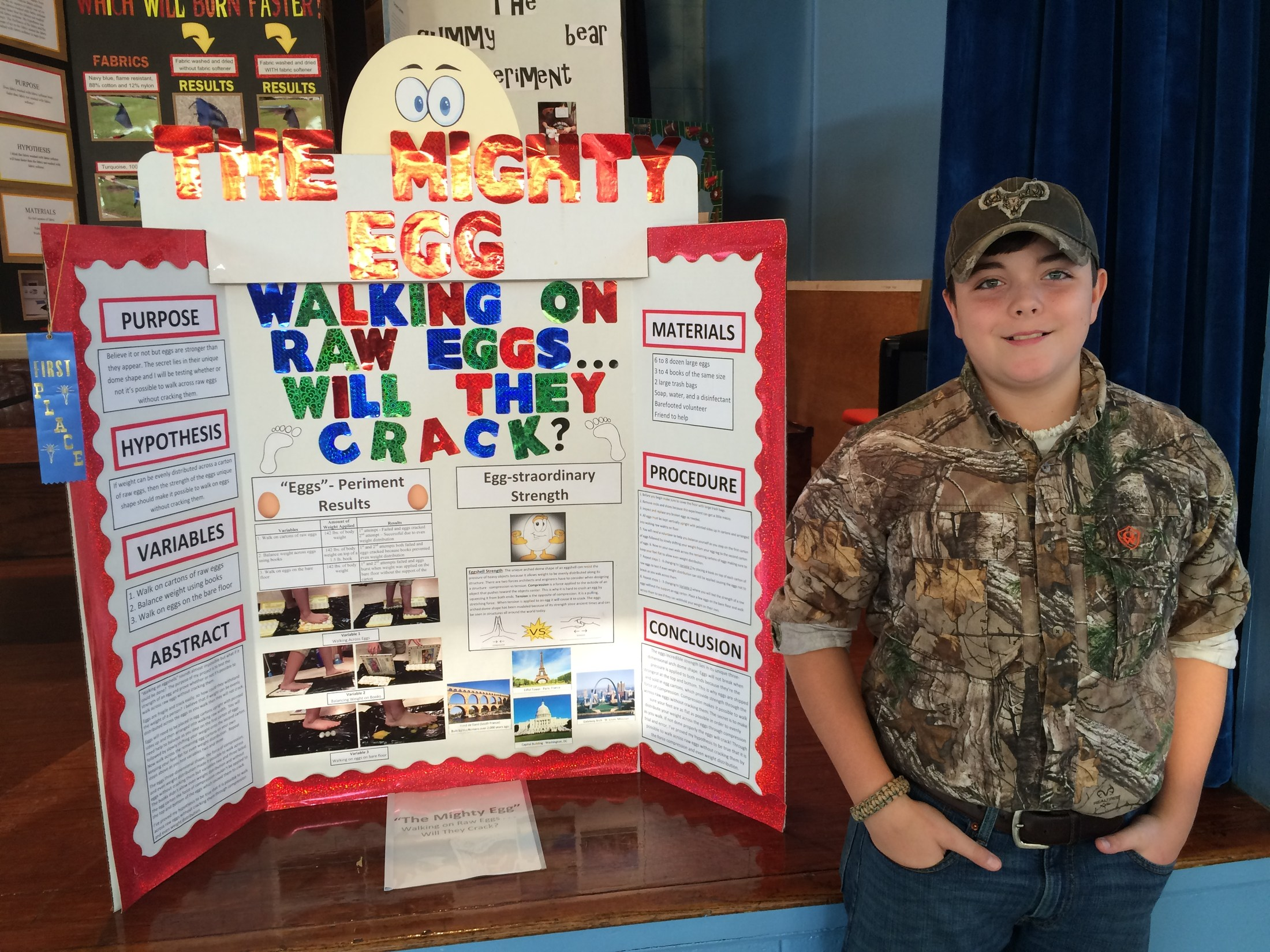 7th Grader 1st Place in Science Fair