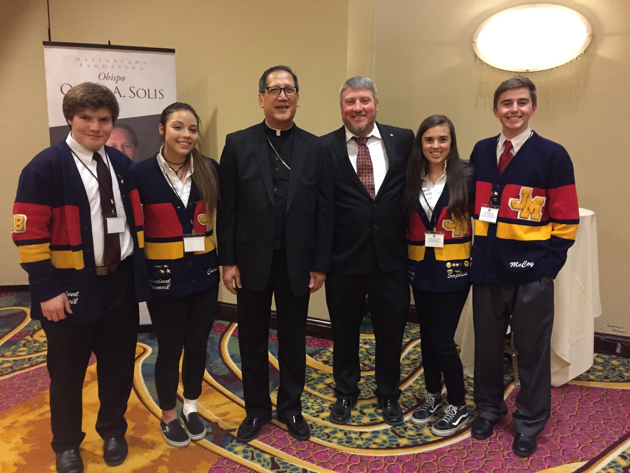 Judge Student Council with The Most Reverend Oscar A. Solis, D. D. Tenth Bishop of Salt Lake City
