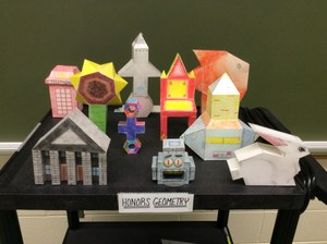 Honors Geometry 3-D Composite Space Figure projects