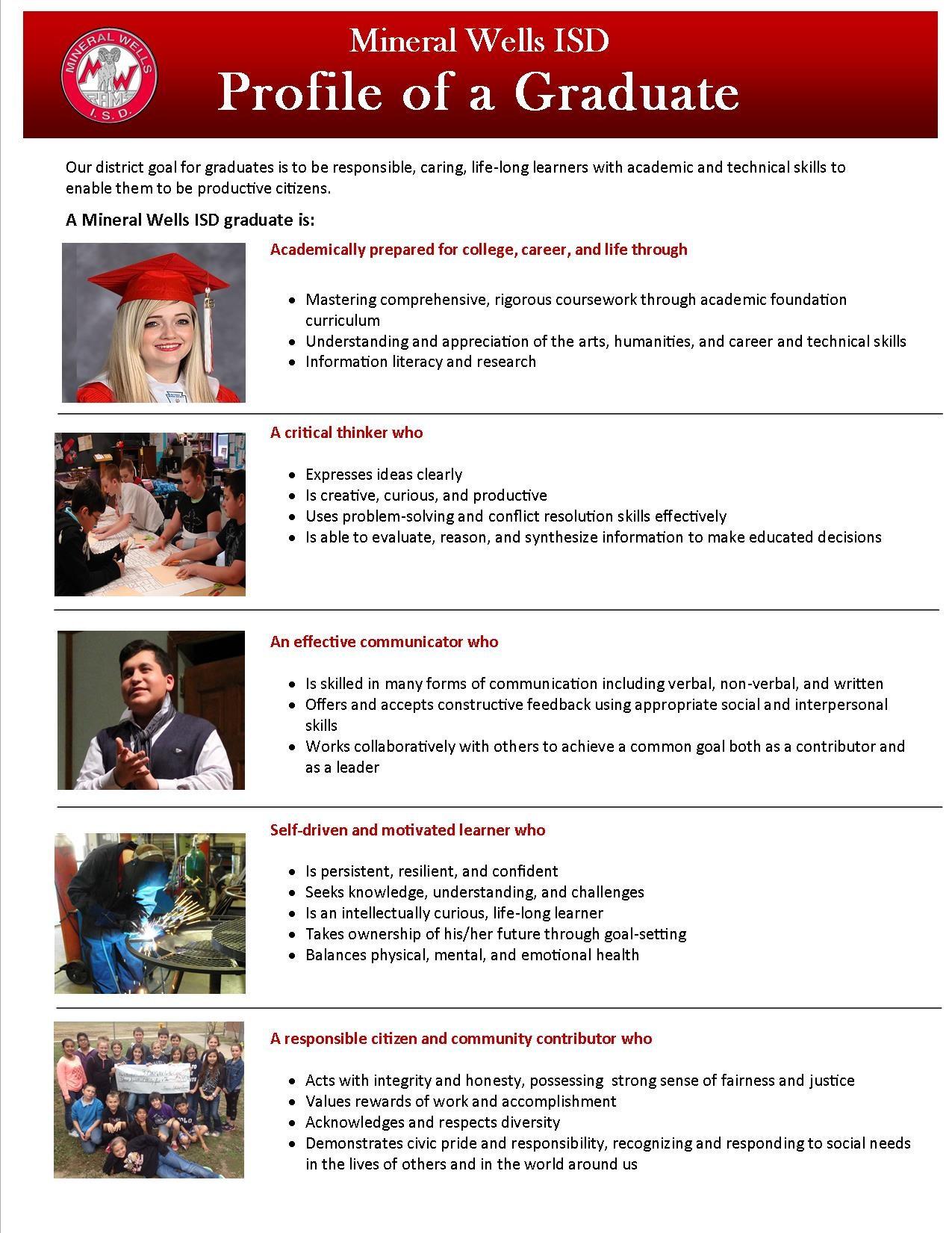 Profile of a MWISD Graduate Description
