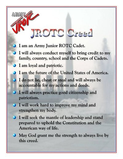 Picture of the JROTC Creed
