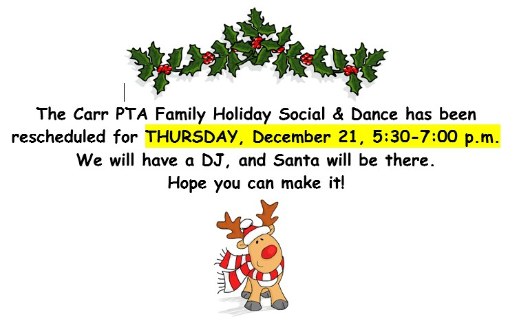 Holiday Social Event Rescheduled Thumbnail Image