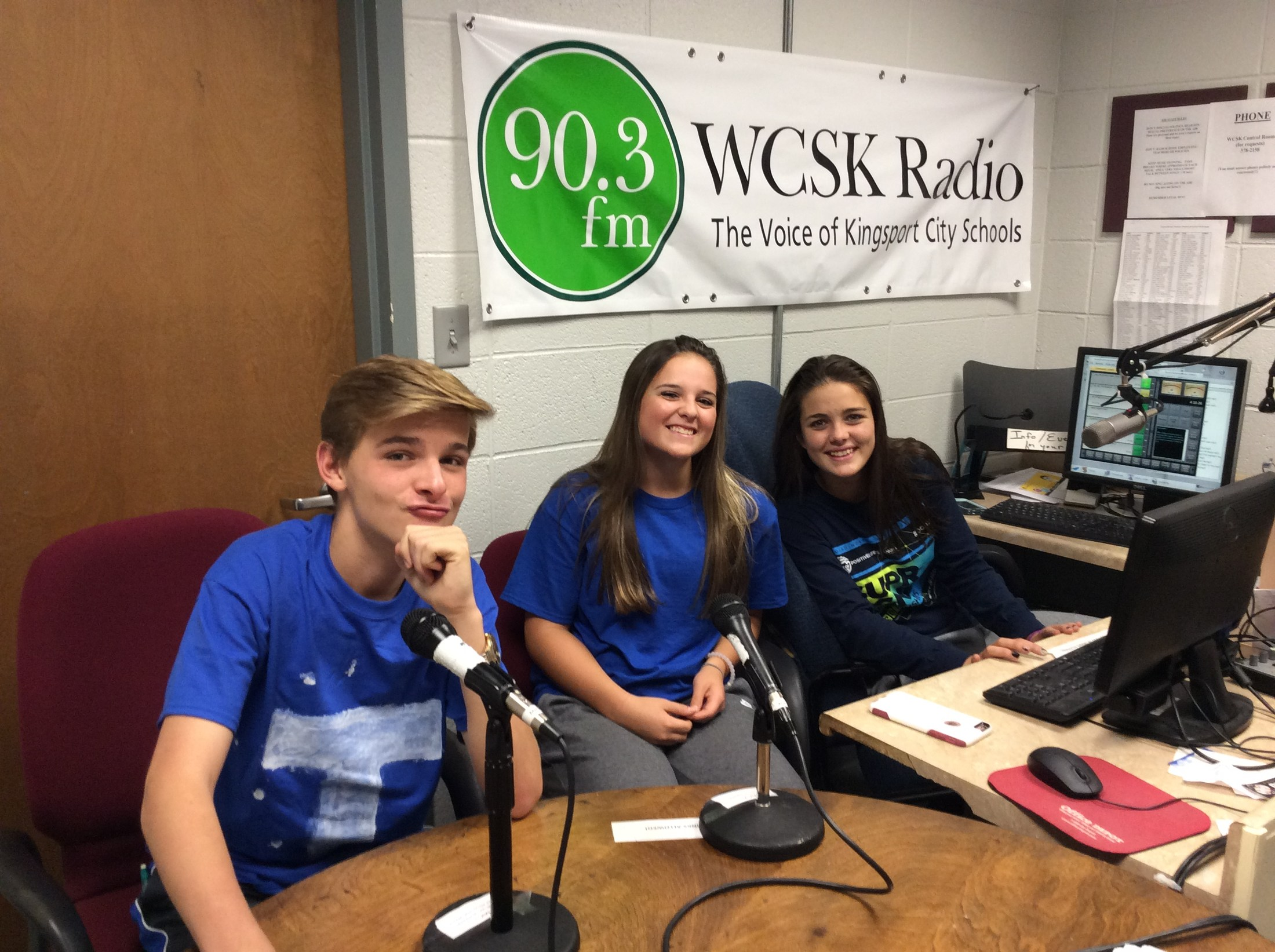 WCSK Radio Club students 3